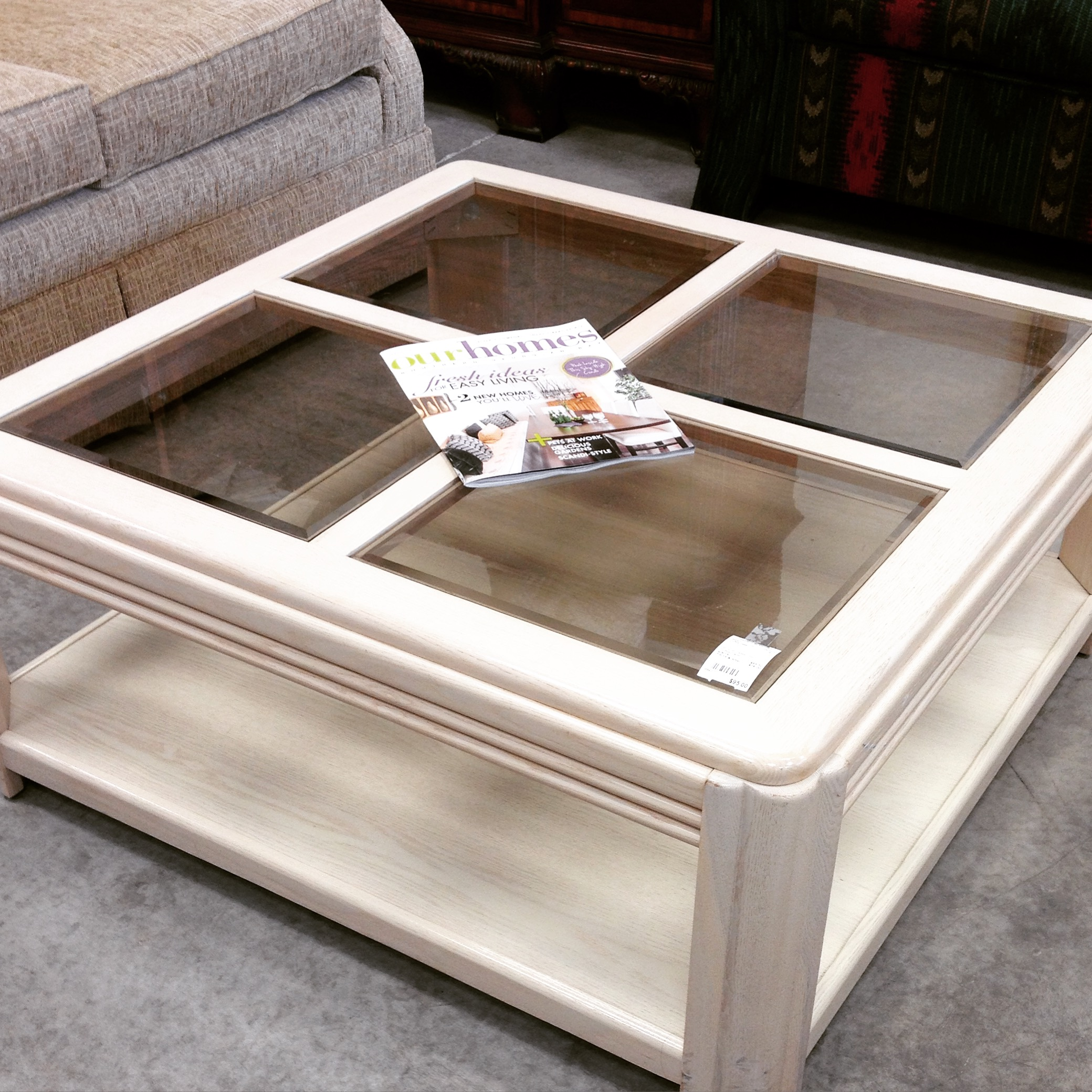 36 Quot X 36 Quot Glass Insert Coffee Table No Longer Available