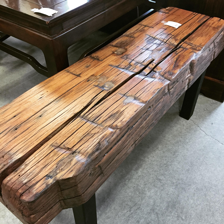 Astounding Custom Made 41 Reclaimed Elm Barn Beam Bench No Longer Ibusinesslaw Wood Chair Design Ideas Ibusinesslaworg