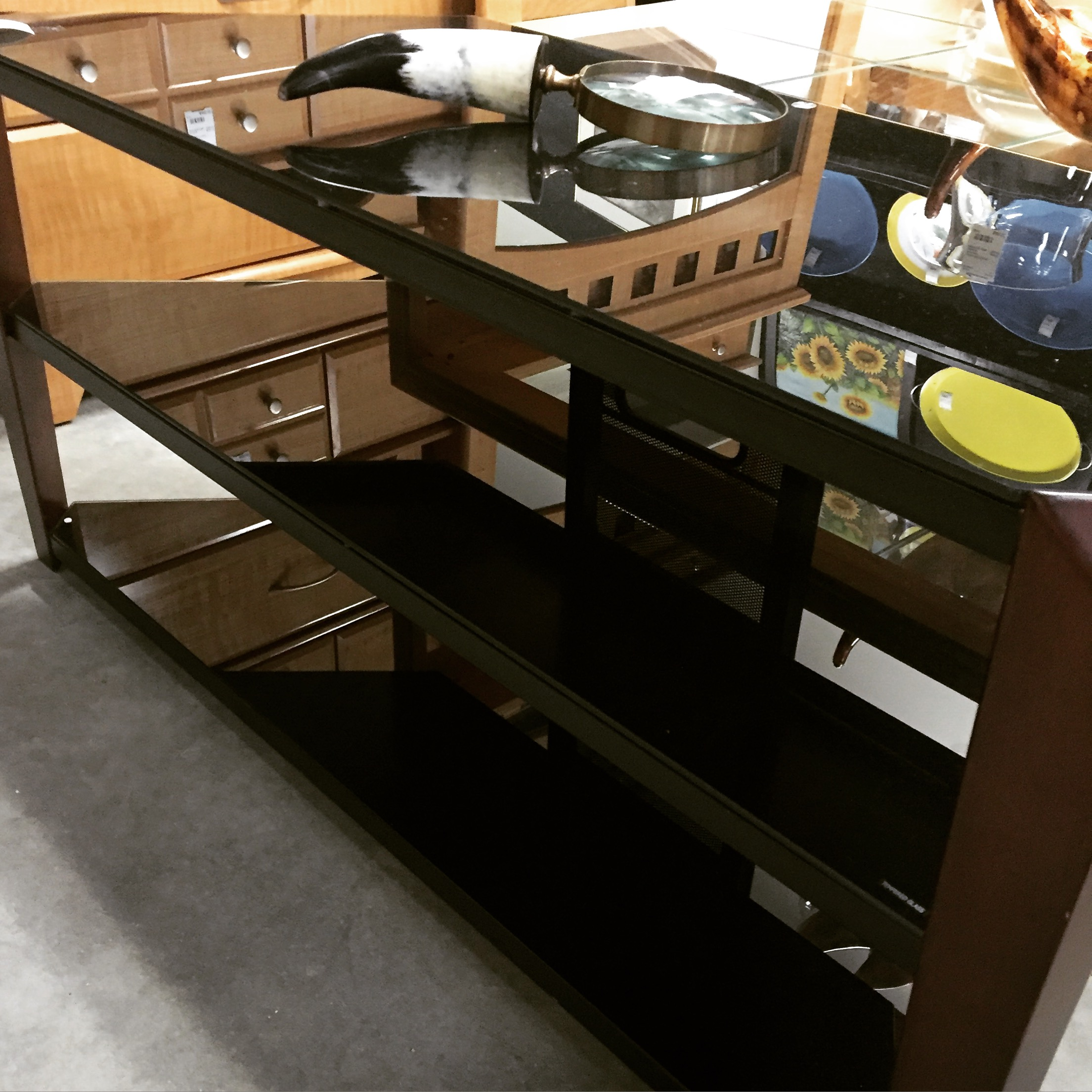 3 Level Tempered Glass Tv Stand Sold Designsbyconsign