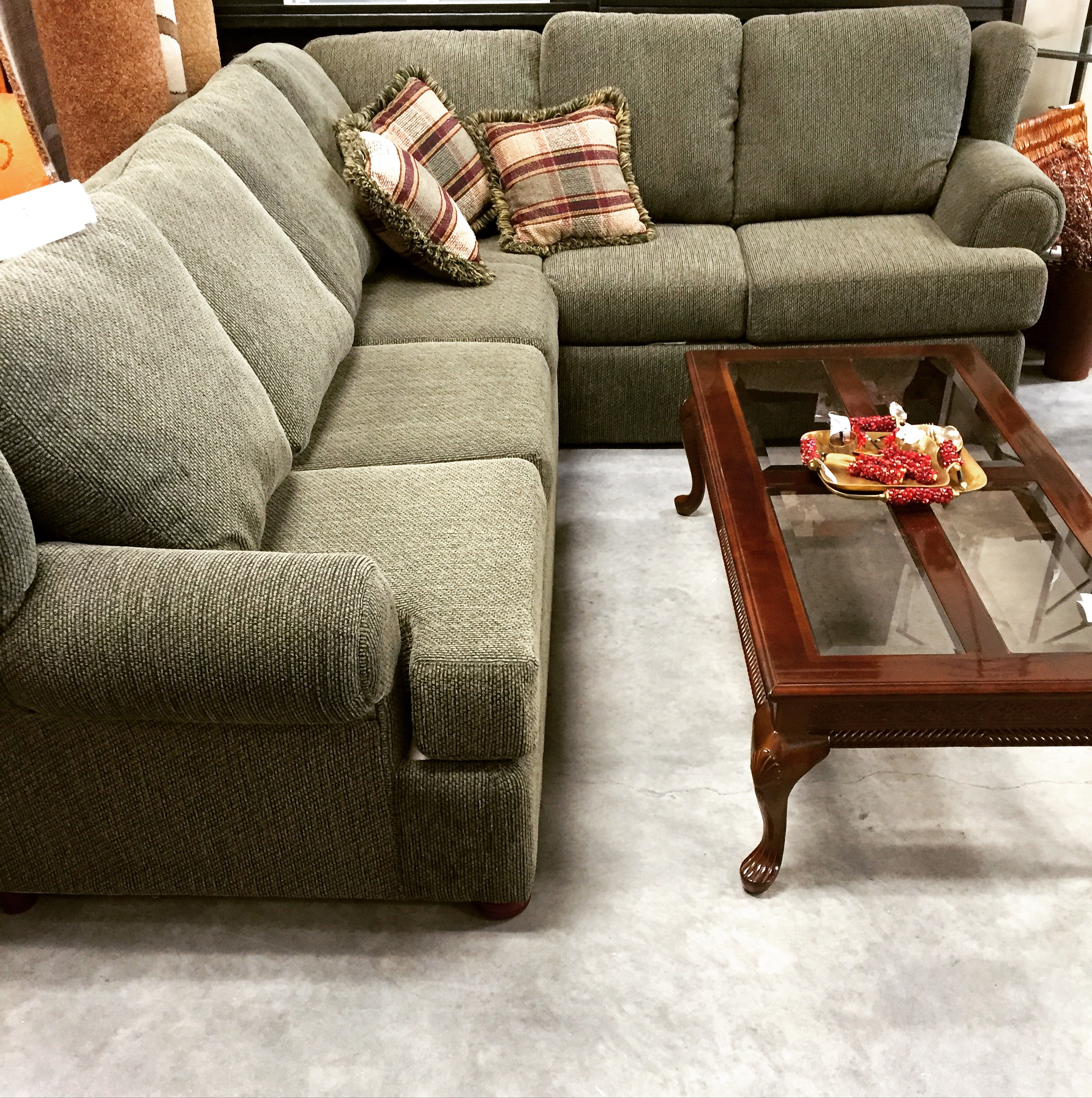 Queen Pull Out Sectional Sofa SOLD Designsbyconsign