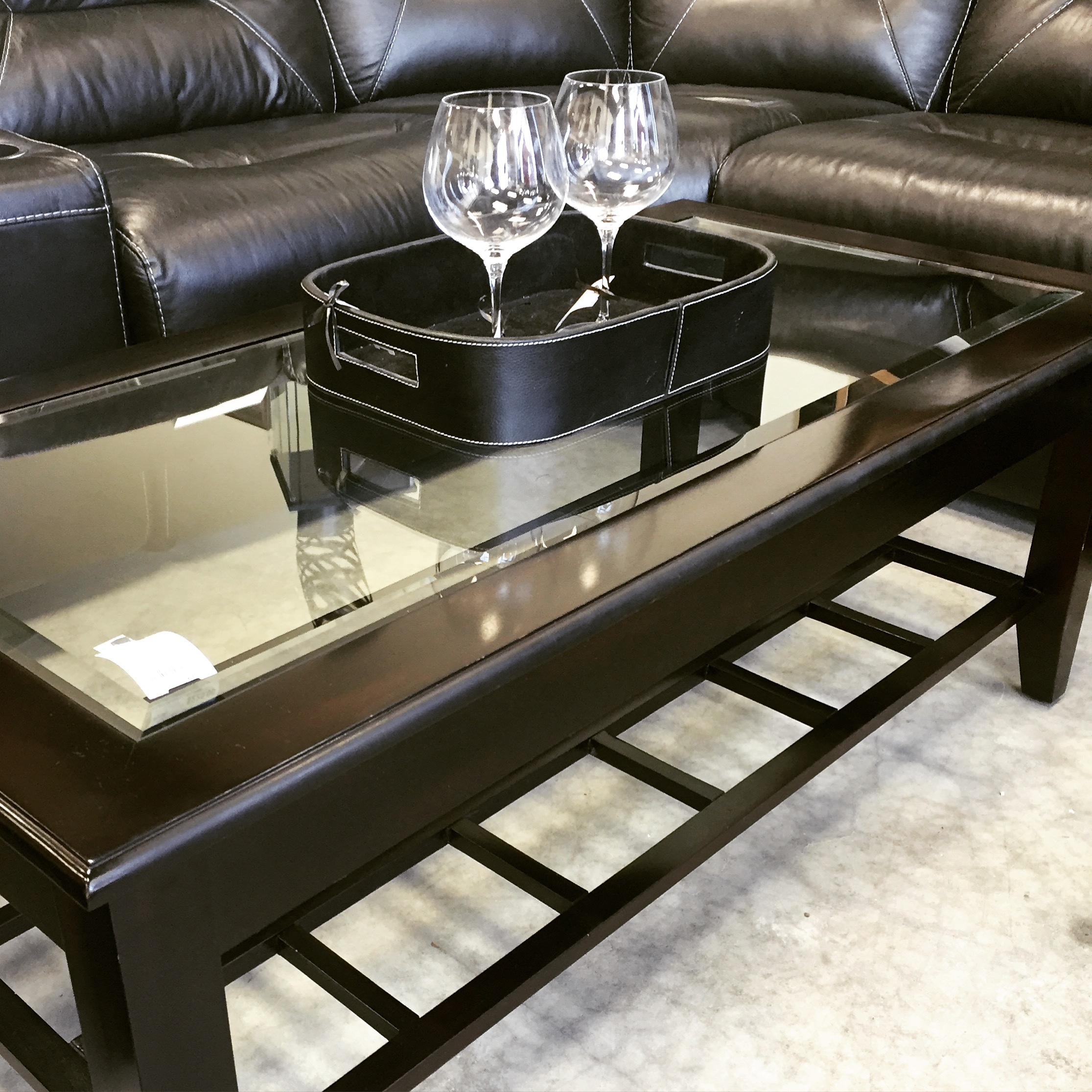 24 X 48 Glass Insert Coffee Table Sold Designsbyconsign