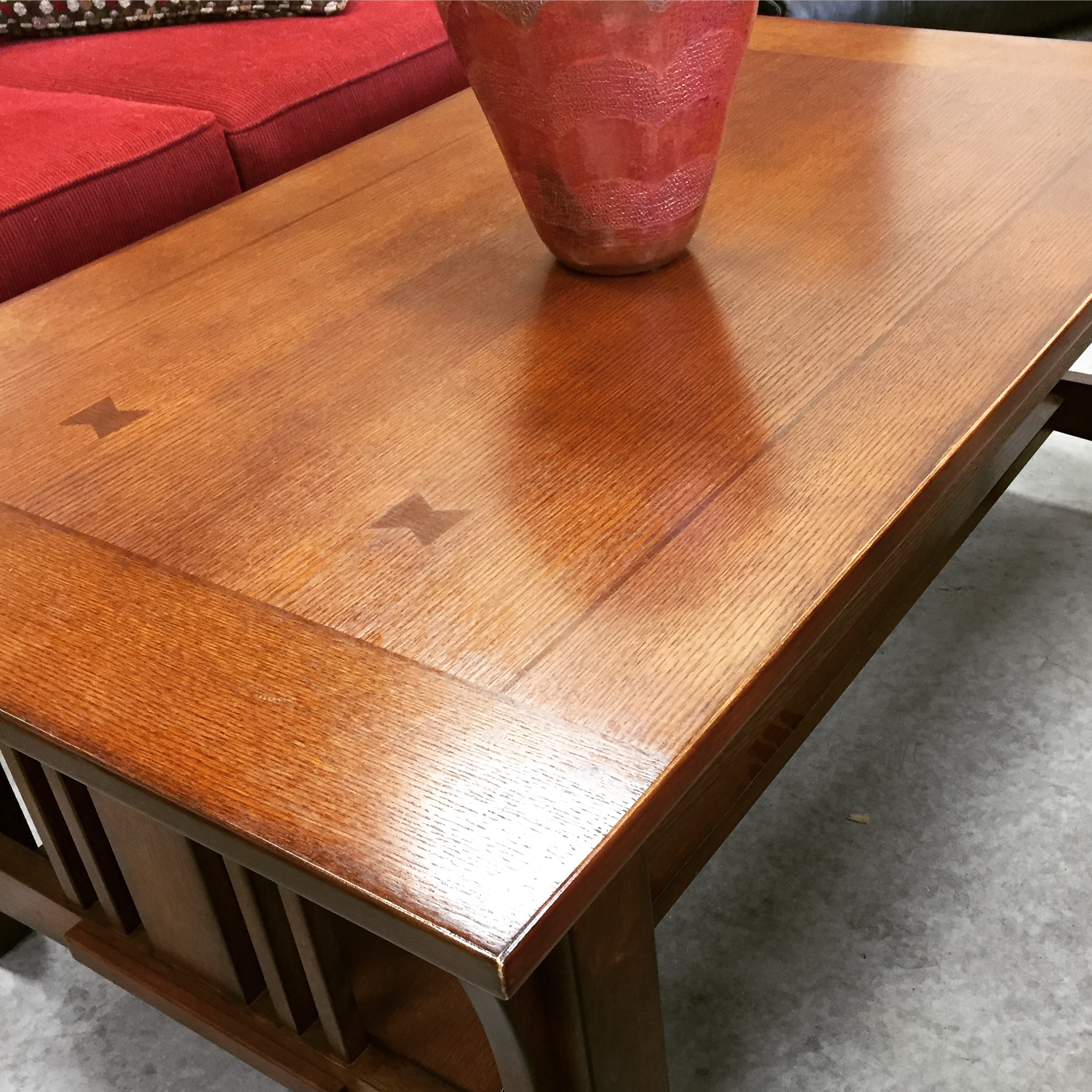 """30""""W x 50""""L Mission Style Coffee Table SOLD designsbyconsign"""