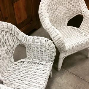 white wicker chair. IMG_2733 White Wicker Chair L