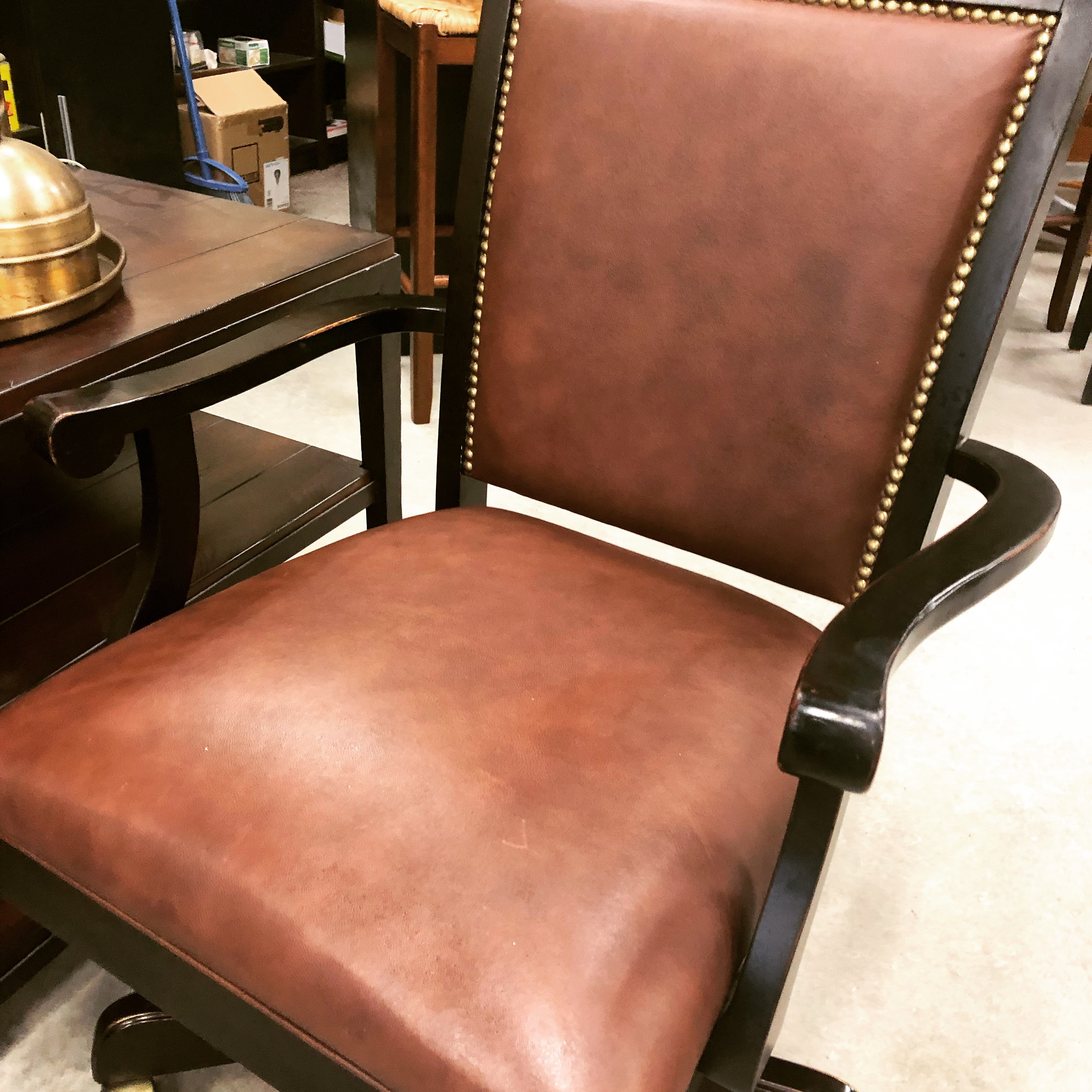 Super Distressed Black With Burgundy Leather Bombay Studded Gmtry Best Dining Table And Chair Ideas Images Gmtryco